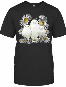 Owls And Flower T-Shirt