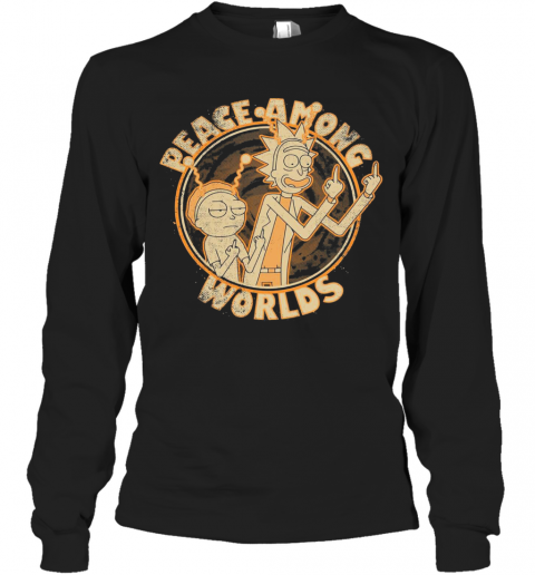 Rick And Morty Peace Among Worlds Vintage T-Shirt Long Sleeved T-shirt