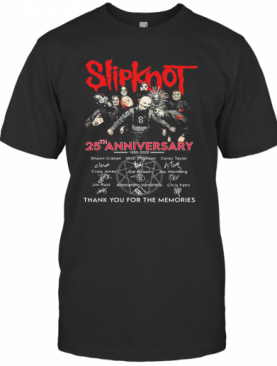 Slipknot 25Th Anniversary Thank You For The Memories Signatures T-Shirt