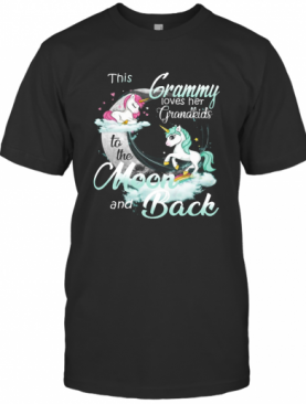 This Grammy Loves Her Grandkids To The Moon And Back Unicorn T-Shirt