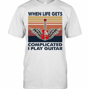 When Life Gets Complicated I Play Guitar Vintage T-Shirt Classic Men's T-shirt