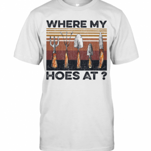 Where My Hoes At Vintage T-Shirt Classic Men's T-shirt