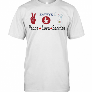 Zaxby'S Peace Love Sanitize T-Shirt Classic Men's T-shirt