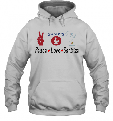 Zaxby'S Peace Love Sanitize T-Shirt Unisex Hoodie