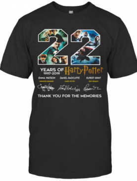 22 Years Of Harry Potter 1997 2019 Thank You For The Memories T-Shirt