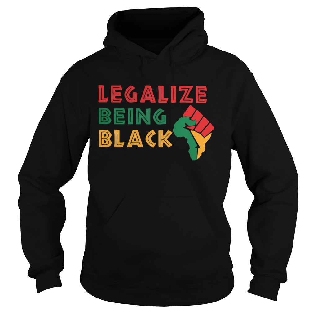 Fist Isolated Legalize Being Black  Hoodie