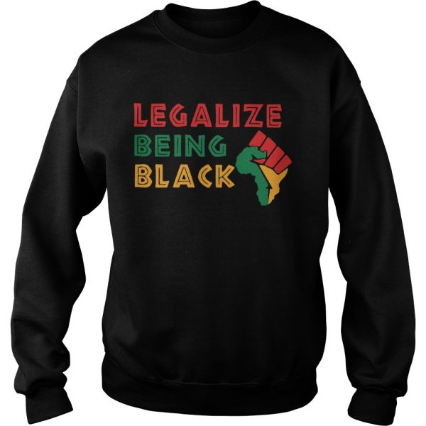 Fist Isolated Legalize Being Black  Sweatshirt