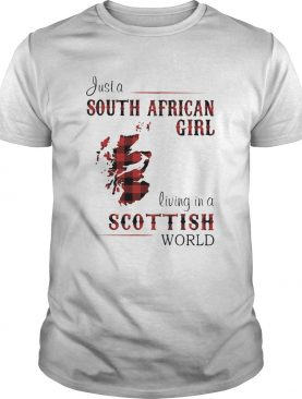 Just a South African girl living in a Scottish world map shirt