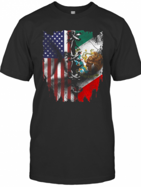 Mexican And American Flag T-Shirt
