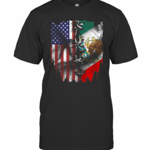 Mexican And American Flag T-Shirt Classic Men's T-shirt