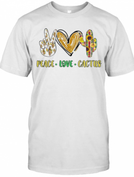 Peace Love Cactus Diamond T-Shirt