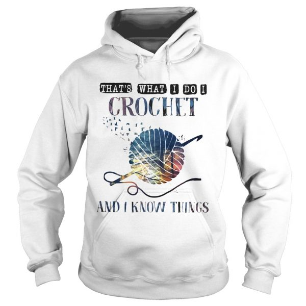 Thats what I do I crochet and I know things  Hoodie
