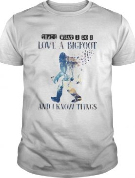 Thats what I do I love a bigfoot and I know things shirt