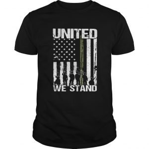 Veteran united we stand american flag independence day  Unisex