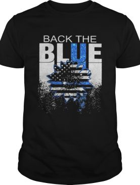 Back the blue folwer American shirt