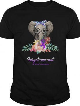 Elephant Bow Lovely Forget Me Not Alzheimers Awareness shirt