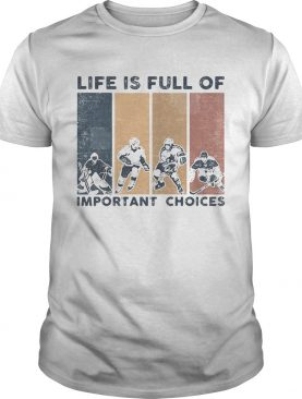 Life Is Full Of Important Choices Golfball Vintage Retro shirt