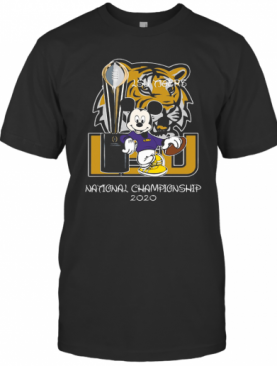 Mickey Mouse LSU Tigers National Championship 2020 T-Shirt