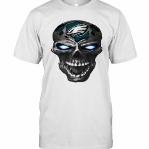 Skull Philadelphia Eagles Football Logo Light T-Shirt Classic Men's T-shirt