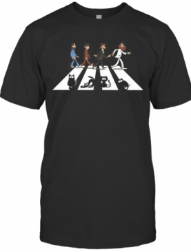 The Beatles And Black Cats Abbey Road T-Shirt