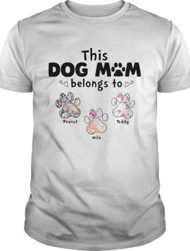 This dog mom belongs to floral paw shirt