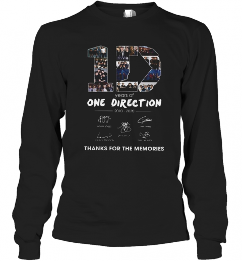 10 Years Of One Direction 2010 2020 Signatures T-Shirt Long Sleeved T-shirt