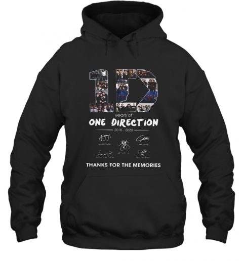 10 Years Of One Direction 2010 2020 Signatures T-Shirt Unisex Hoodie