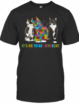 Cat Autism It'S OK To Be Different T-Shirt