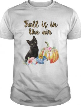 Fall Is In The Air Cat Pumpkin Flower shirt