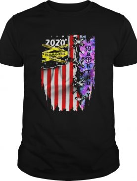 Grateful 59 Birthday 2020 Quarantine American Flag shirt