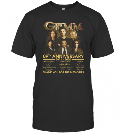 Grimm 09Th Anniversary 2011 2020 Thank You For The Memories Signatures T-Shirt Classic Men's T-shirt
