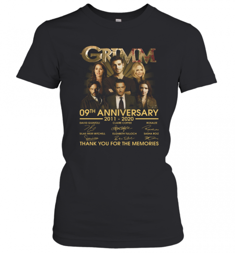 Grimm 09Th Anniversary 2011 2020 Thank You For The Memories Signatures T-Shirt Classic Women's T-shirt