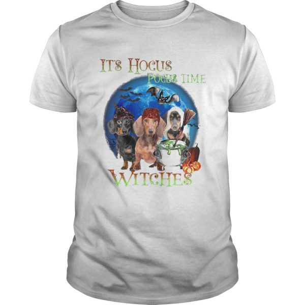 Halloween dachshund its hocus pocus time witches  Unisex