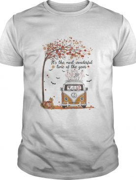 Hippie Car Flamingoes Its The Most Wonderful Time Of The Year Halloween Autumn shirt