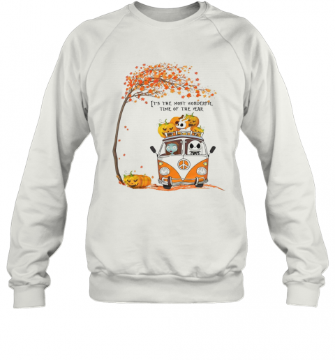 Jack Skellington Sally And Zero It'S The Most Wonderful Time Of The Year T-Shirt Unisex Sweatshirt