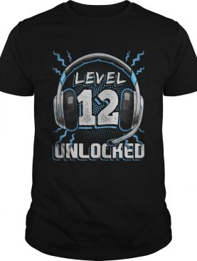 Level 12 Unlocked Video Game 12th Birthday PC Gaming shirt