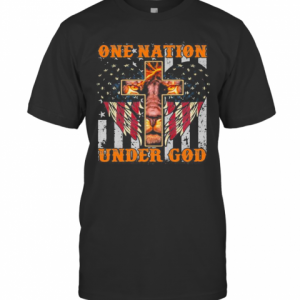 Lion King One Nation Under God American Flag Independence Day T-Shirt Classic Men's T-shirt