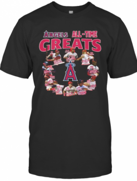 Los Angeles Angels All Time Greats Signatures T-Shirt