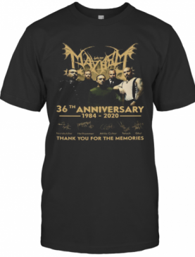 May Bat 36Th Anniversary 1984 2020 Thank You For The Memories Signatures T-Shirt