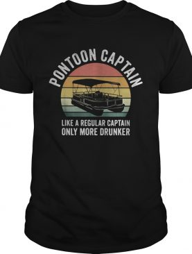 Pontoon captain like a regular captain only more drunker vintage retro shirt