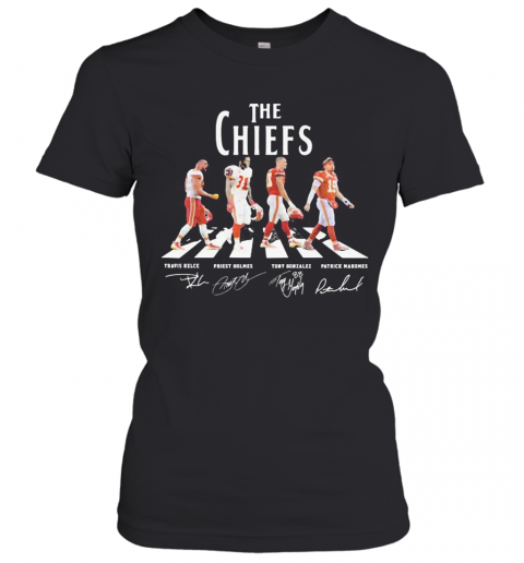 The Chiefs Abbey Road Players Signatures T-Shirt Classic Women's T-shirt