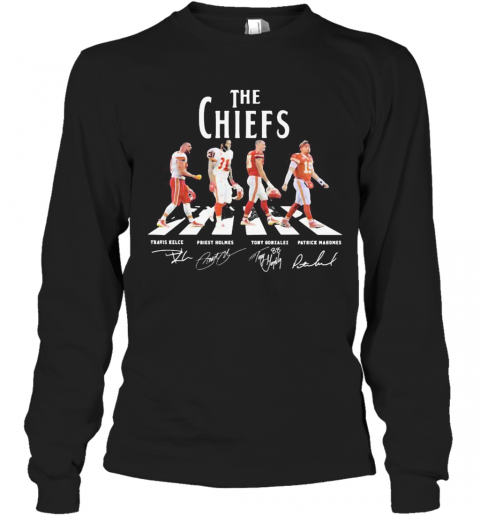 The Chiefs Abbey Road Players Signatures T-Shirt Long Sleeved T-shirt