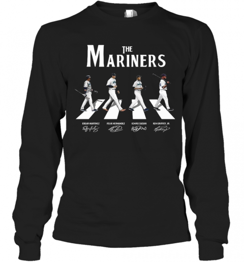 The Mariners Abbey Road Signatures T-Shirt Long Sleeved T-shirt
