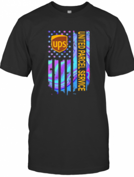 Ups United Parcel Service American Flag Independence Day T-Shirt
