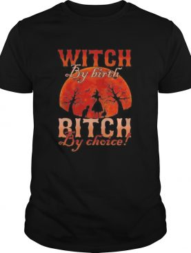 Witch by nature Witch by birth bitch by choice Sunset shirt