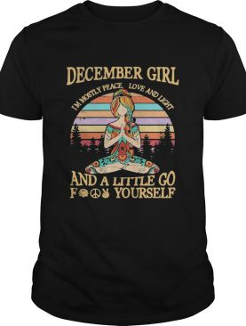 Yoga girl december girl im mostly peace love and light and a little go fuck yourself vintage retro