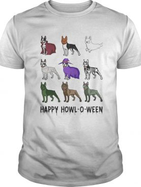 BOSTIE HAPPY HOWLOWEEN HALLOWEEN shirt