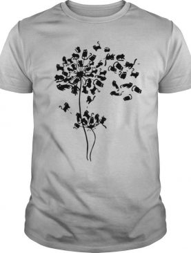 Black Cat Dandelion Flower shirt