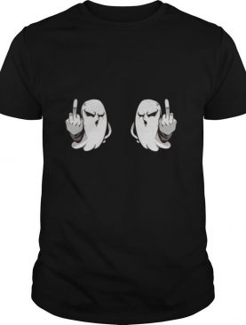 Boo Boobs Halloween Ghost Middle Finger shirt