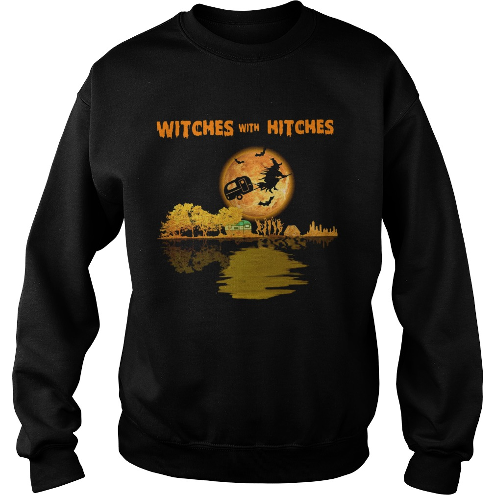 Camping Witches With Hitches Halloween  Sweatshirt